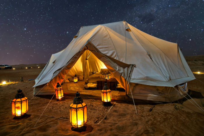Family Tent Under the Starry Sky